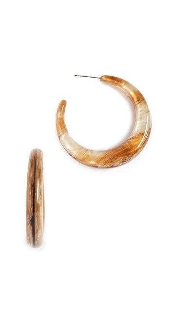 Shashi Tortoise Hoop Earrings