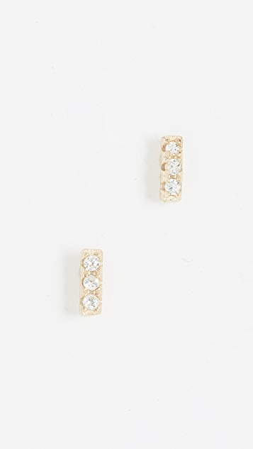 Shashi Tiny Bar Earrings