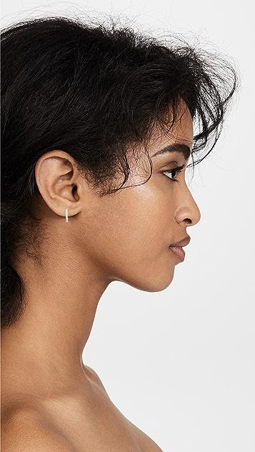Shashi Small Pave Hoop Earrings