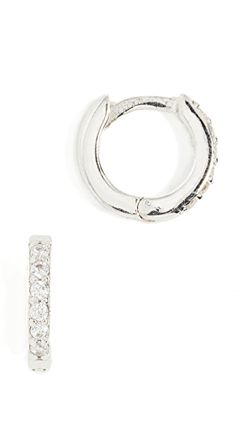 Shashi Katerina Pave Hoop Earrings