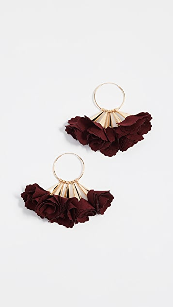 Shashi Rose Hoop Earrings rpdyhOU