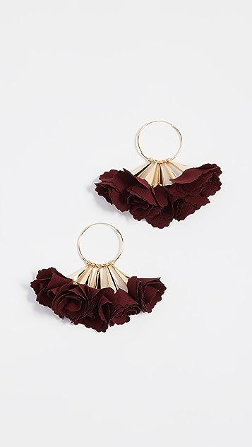 Shashi Rose Hoop Earrings