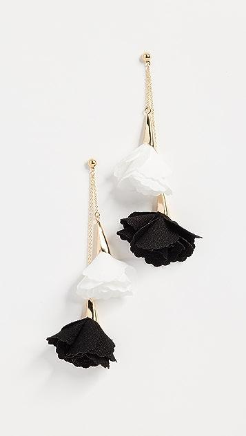 Shashi Rose Double Drop Earrings