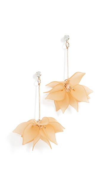 Shashi Lucite Rose Earrings