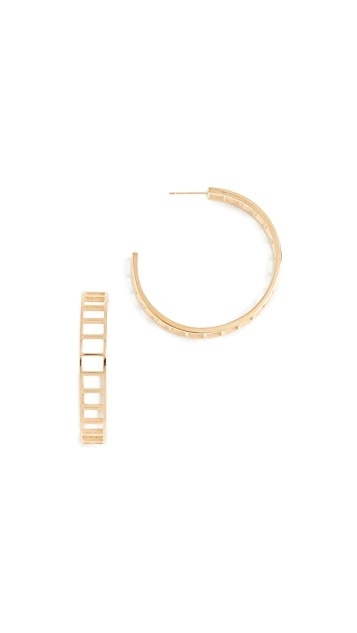 Shashi Climber Hoop Earrings