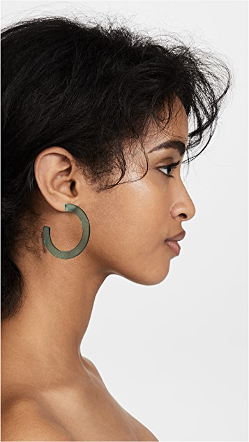 Shashi Acrylic Hoop Earrings