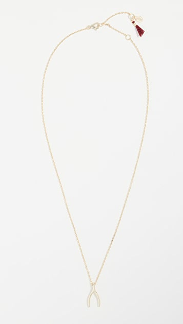 Shashi Wishbone Necklace