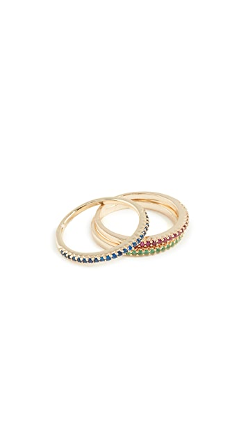 Shashi Sparkling Bar Ring Set