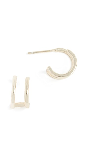 Shashi Erin Double Hoop Earrings