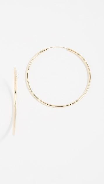 Shashi Samantha Large Hoop Earrings - Yellow Gold