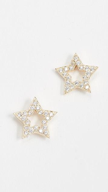 Shashi Open Star Stud Earrings