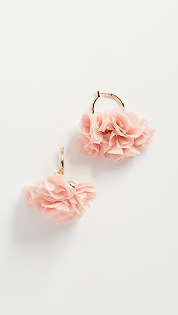 Shashi Floral Hoop Earrings