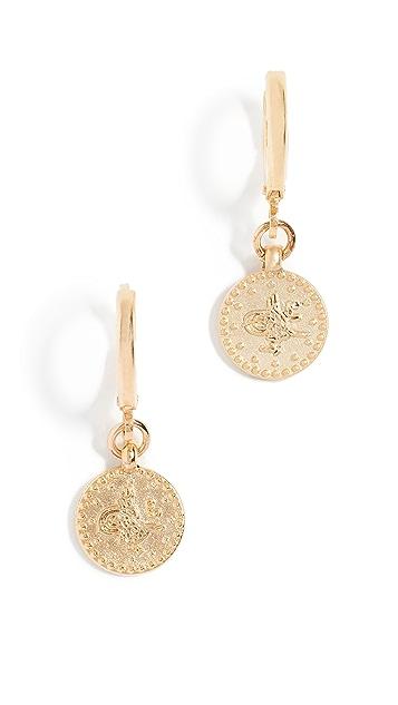Shashi Coin Huggie Earrings