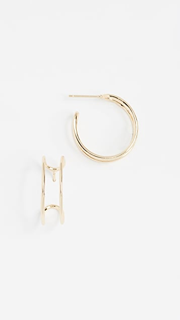 Shashi Double Bar Hoop Earrings