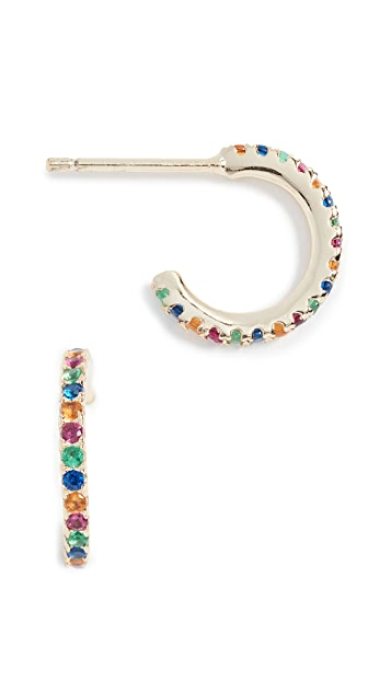 Shashi Small Hoop Pave Earrings