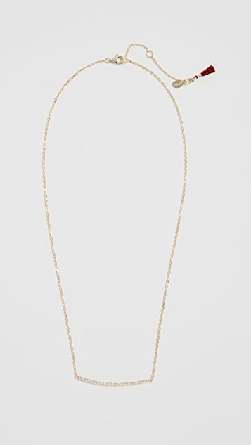 Shashi Bar Pave Necklace