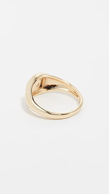 Shashi Starburst Signet Ring