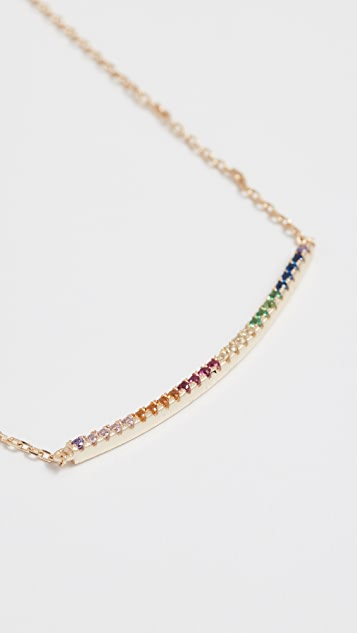 Shashi Rainbow Bar Necklace