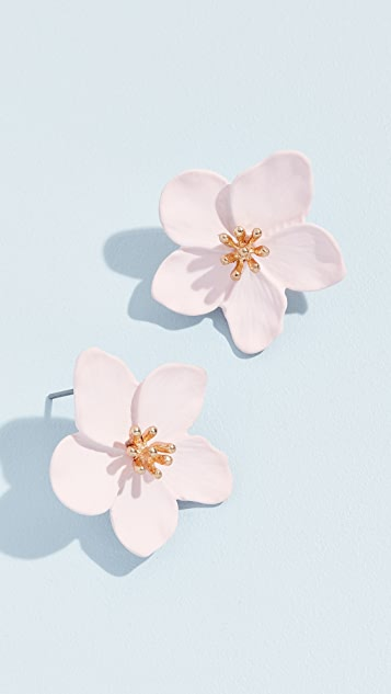 Shashi Iris Single Flower Studs