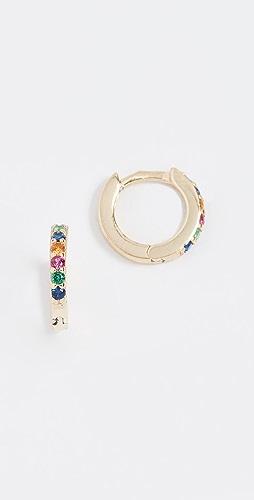 SHASHI - Rainbow Katerina 密镶贴耳耳环