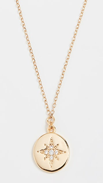Starburst Coin Pendant Necklace by Shashi