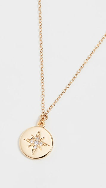SHASHI Starburst Coin Pendant Necklace