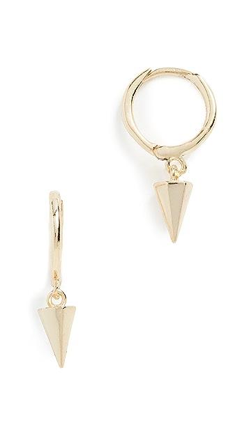 Shashi Spike Drop Huggie Earrings