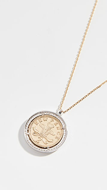 Shashi Pendant Coin Necklace