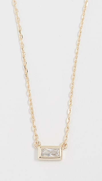Shashi Baguette Solitaire Necklace