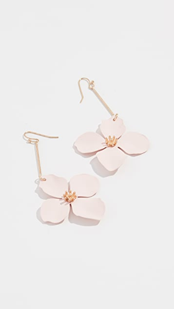 Shashi Large Flower Drop Earrings