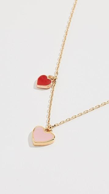 Shashi Enamel Heart Multi Necklace