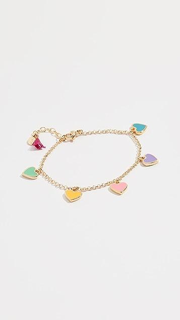 Shashi Enamel Heart Bracelet