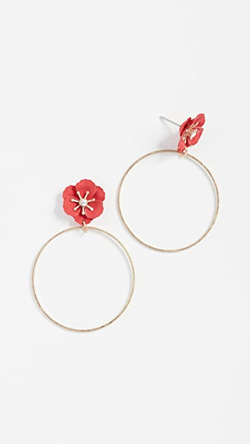 Shashi Flower Hoop Earrings
