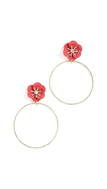 Shashi Flower Hoop Earrings