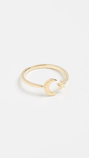 Shashi Moon Star Ring