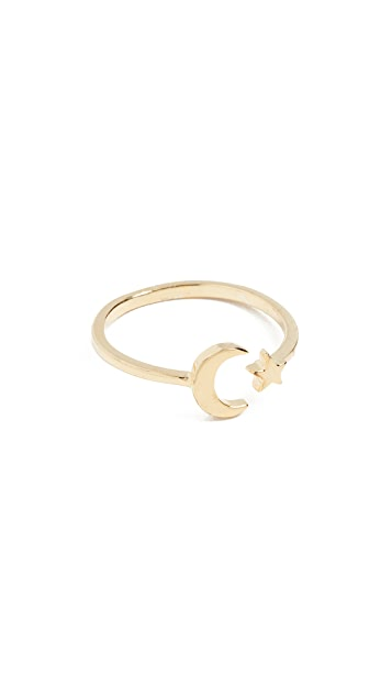 Shashi Moon Star Ring