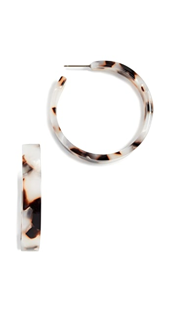 Shashi Isabelle Tortoise Hoop Earrings