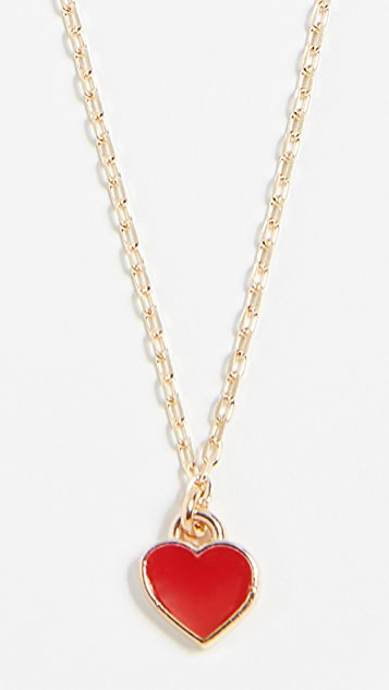 Shashi Enamel Heart Necklace