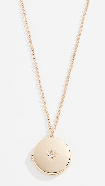 Shashi Starburst Locket Necklace