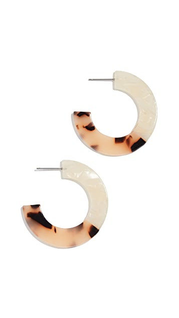 Shashi Серьги-кольца Peyton