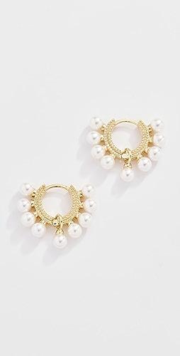 Shashi - Lola Pearl Huggie Earrings