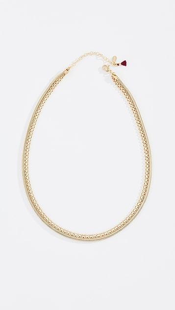 Shashi Zafira Layered Necklace - Yellow Gold