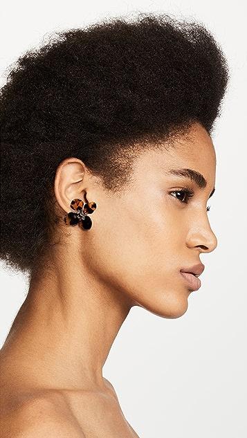 Shashi Tortoise Flower Earrings