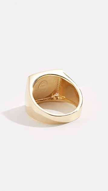 Shashi Square Signet Ring