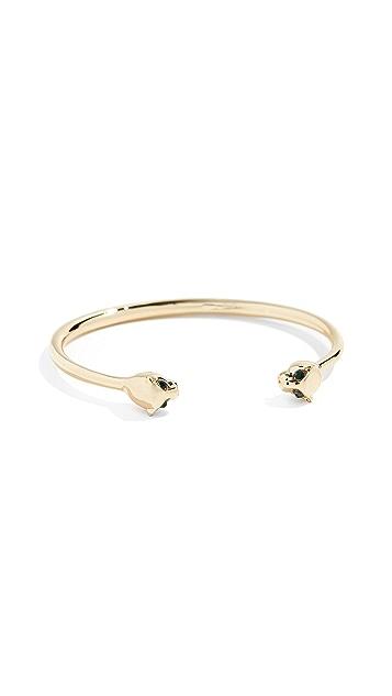 Shashi Panther Cuff Bracelet
