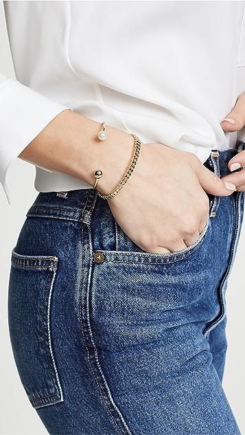 Shashi Браслет-манжета с цепочкой