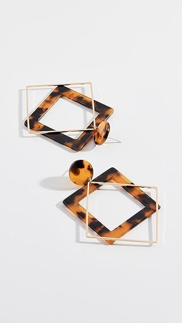 Shashi Echo Tortoiseshell Drop Earrings