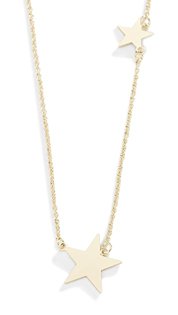 Shashi Two Star Necklace