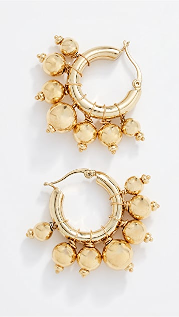 4cm Length Gold Plated Textured Square Hoop Earrings