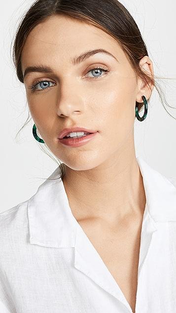 Shashi Verde 圈式耳环